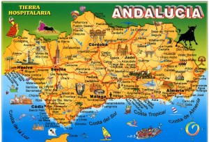Andalucia Map 300x204 Costa Del Sol Information
